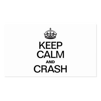 KEEP CALM AND CRASH BUSINESS CARDS