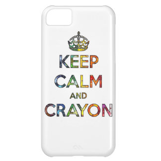 Keep Calm and Crayon draw drawing kid kids funny c iPhone 5C Case