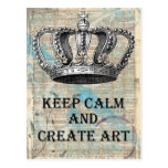 Keep Calm and Create Art Vintage Abstract Design