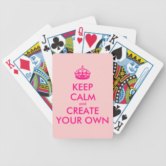 Keep calm and create your own - Pink Bicycle Playing Cards