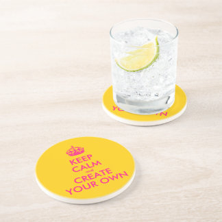 Keep calm and create your own - Pink Coaster