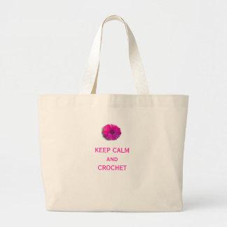 Keep Calm and Crochet Bags