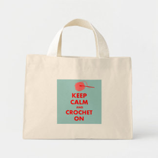 Keep Calm and Crochet On Gifts Mini Tote Bag