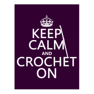 Keep Calm and Crochet On Postcard