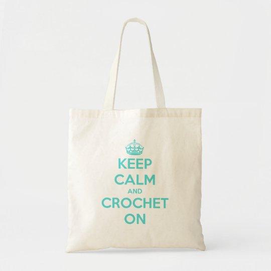Keep Calm and Crochet On Tote Bag