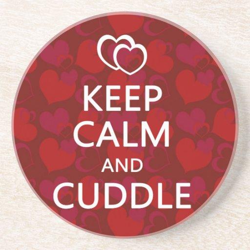 Keep Calm And Cuddle Drink Coaster Zazzle