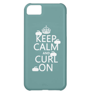 Keep Calm and Curl On (any color) iPhone 5C Case