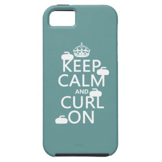 Keep Calm and Curl On (any color) iPhone 5 Cover