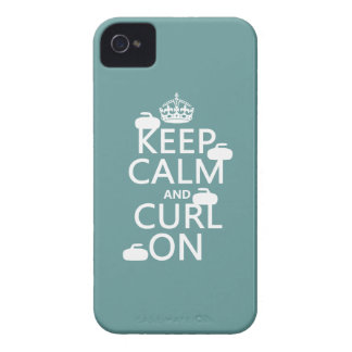 Keep Calm and Curl On (any color) iPhone 4 Cover
