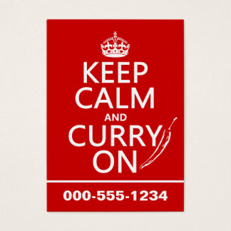 Keep Calm and Curry On Business Card