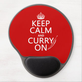 Keep Calm and Curry On (customizable) Gel Mouse Pad