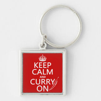 Keep Calm and Curry On Key Ring