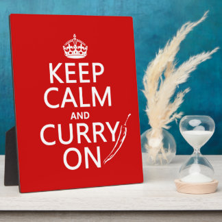 Keep Calm and Curry On Plaque