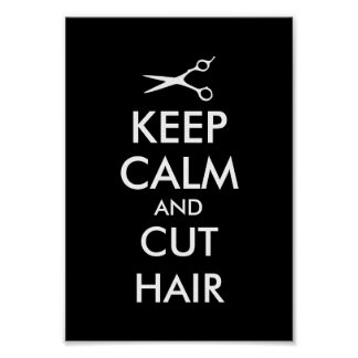 Keep calm and cut hair poster for hairsalon