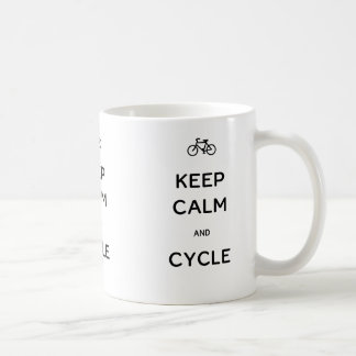 Keep Calm and Cycle Coffee Mug