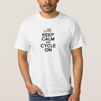 KEEP calm and cycle exercise bike biking bicycle r Tshirt