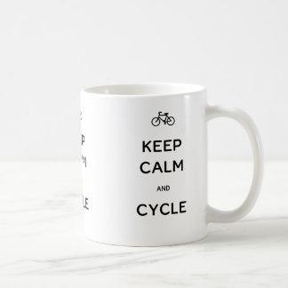Keep Calm and Cycle Classic White Coffee Mug
