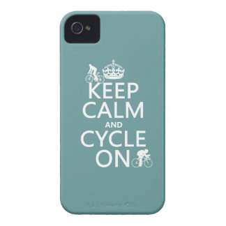 Keep Calm and Cycle On (in any color) iPhone 4 Case