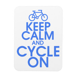 Keep Calm and Cycle On Premium Magnet