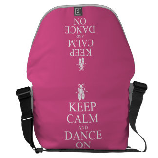 Keep Calm and Dance On Ballerina Shoes Pink Commuter Bag