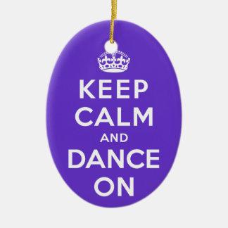 Keep Calm and Dance On Christmas Ornament