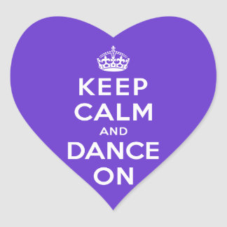 Keep Calm and Dance On Heart Sticker