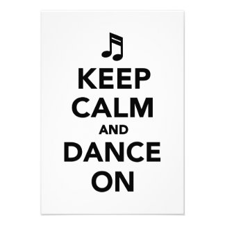 Keep calm and dance on invites
