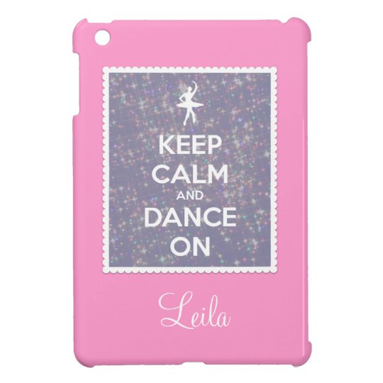 Keep Calm and Dance On Lavender Bokeh iPad