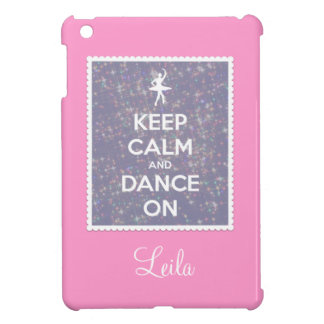 Keep Calm and Dance On Lavender Bokeh iPad Mini Cover