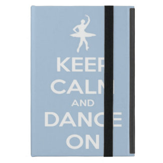 Keep Calm and Dance On Light Blue iPad Mini Case