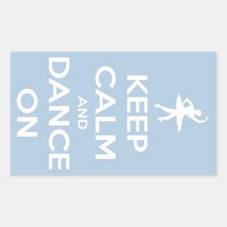 Keep Calm and Dance On Light Blue Sticker