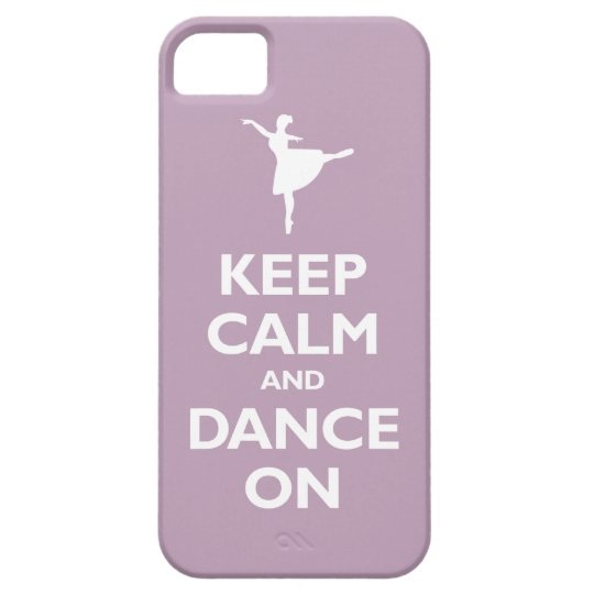 Keep Calm and Dance On (pale violet) Case