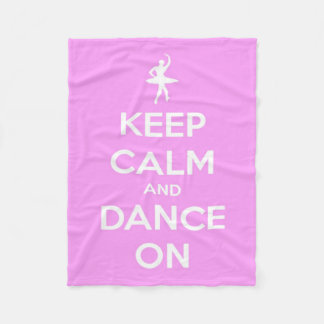 Keep Calm and Dance On Pink and White Fleece