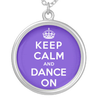 Keep Calm and Dance On Silver Plated Necklace