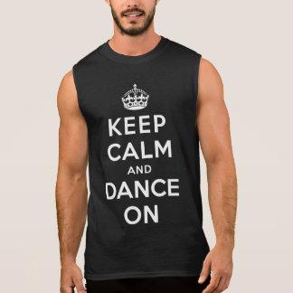 Keep Calm and Dance On Sleeveless Shirt