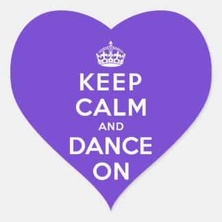 Keep Calm and Dance On Heart Sticker