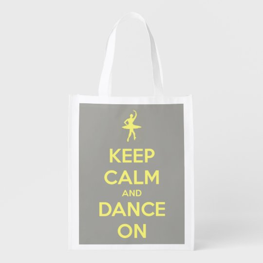 Keep Calm and Dance On Yellow on Grey