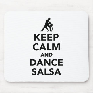 Keep calm and dance Salsa Mouse Pad