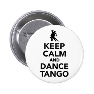 Keep calm and dance Tango 6 Cm Round Badge