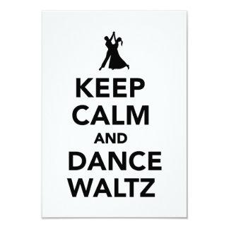 Keep calm and dance Waltz 9 Cm X 13 Cm Invitation Card