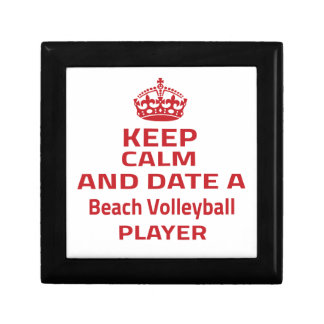 Keep calm and date a Beach Volleyball player Jewelry Box