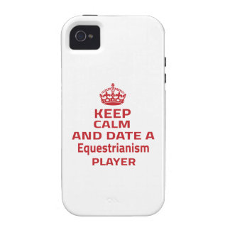 Keep calm and date a Equestrianism player iPhone 4 Case