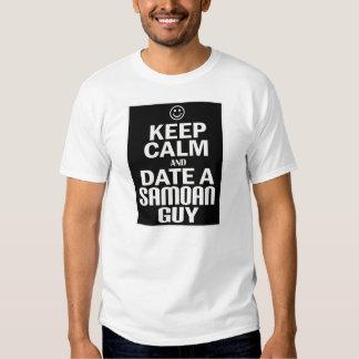 Keep Calm And Date A Samoan Guy -- T-Shirt