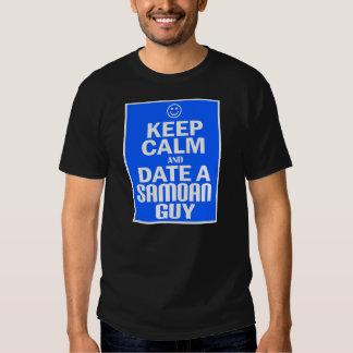 Keep Calm And Date A Samoan Guy -- Tee