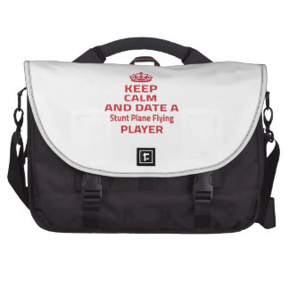 Keep calm and date a Stunt Plane Flying player Laptop Messenger Bag