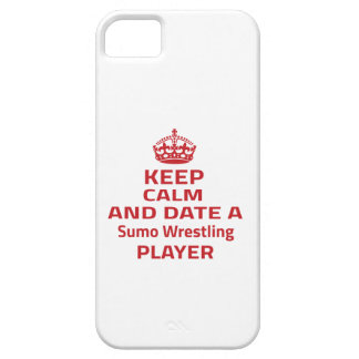 Keep calm and date a Sumo Wrestling player Case For iPhone 5/5S
