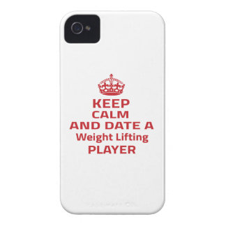 Keep calm and date a Weight Lifting player Case-Mate iPhone 4 Case