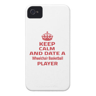 Keep calm and date a Wheelchair Basketball player iPhone 4 Case