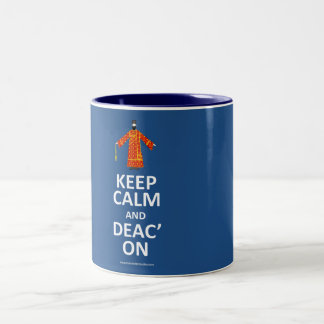 Keep Calm and Deac'on Two-Tone Coffee Mug