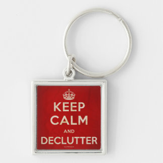 Keep Calm and Declutter keychain
